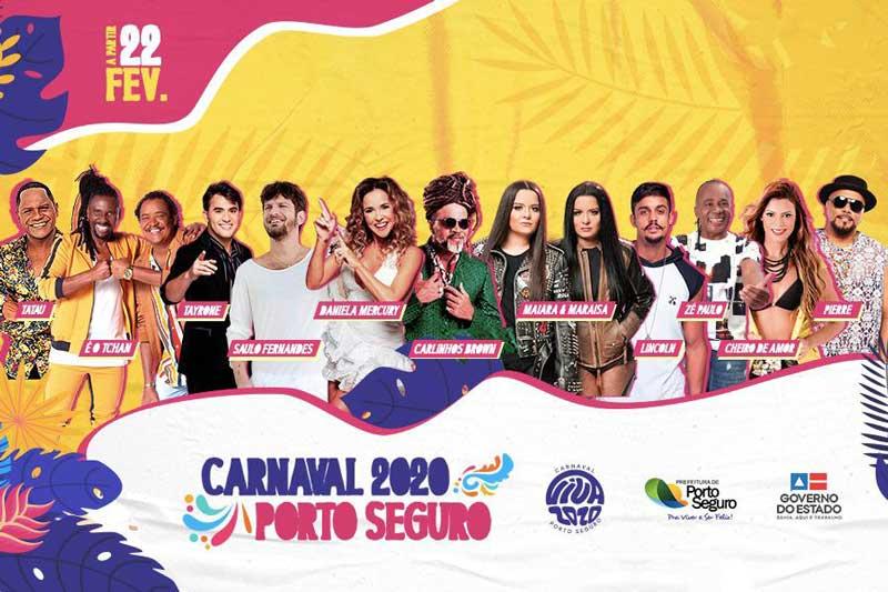 Programação do Carnaval de Porto Seguro 2020