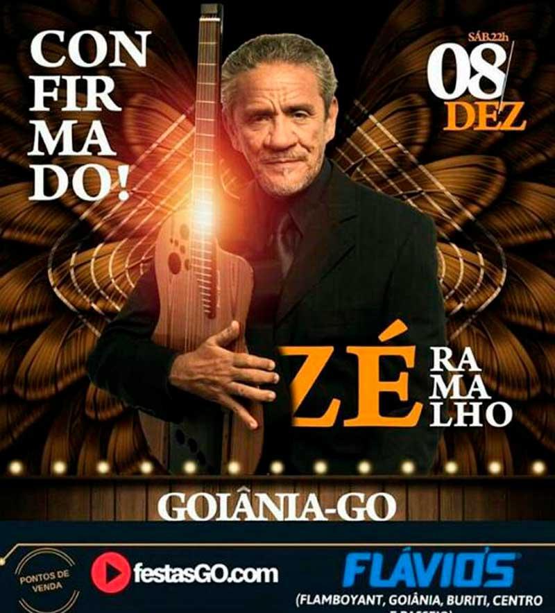 Zé Ramalho se apresentará em Dezembro em Goiânia