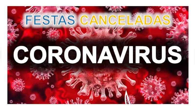 Festas canceladas devido ao coronavirus